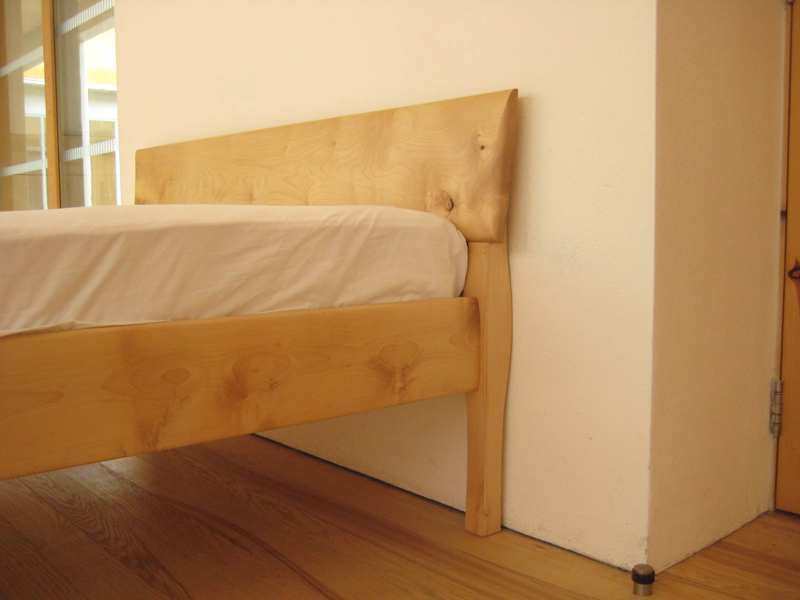 Bespoke Wooden Double Bed - Tom Provost Furniture Tom Provost Furniture