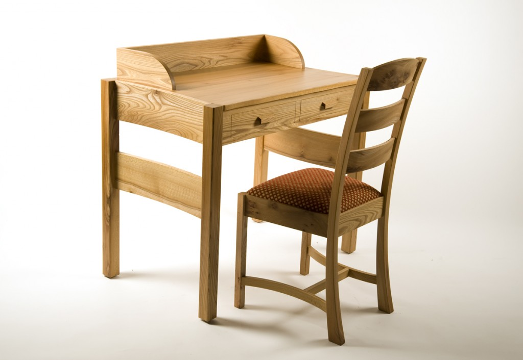 Contemporary Wooden Writing Desk Set