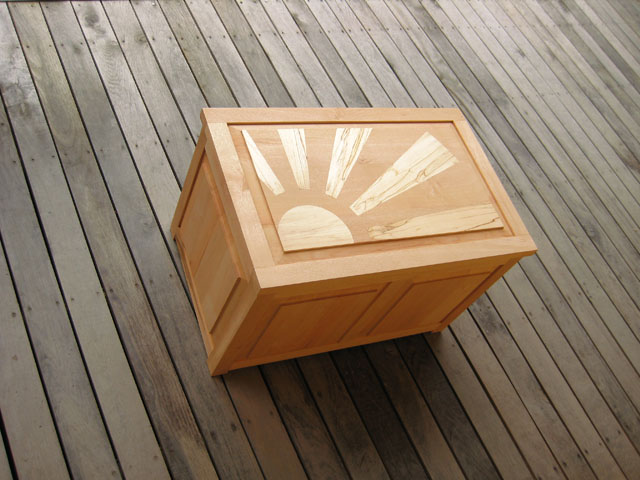 Oak Blanket Storage Box