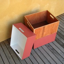 Reclaimed Plywood Storage Boxes